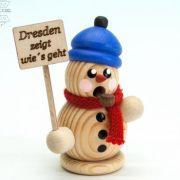 Schneemänner marschieren mit Pegida-Plakaten auf (Foto)