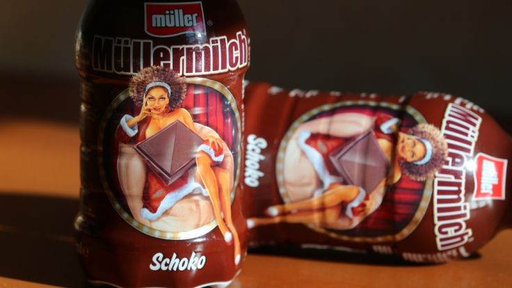 Die Weihnachtsedition von Müllermilch sorgt für Aufregung. (Foto)