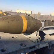 Grausame Rachebotschaft auf US-Bomben? (Foto)
