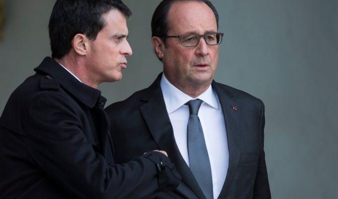 Waffenbrüder: Nachdem Francoise Hollande in den vergangenen Tagen bereits zunehmend von Krieg sprach, setzt nun auch Frankreichs Premierminister Manuel Valls diesen Kurs fort. Was genau dies bedeutet, wird sich im Laufe des Tages zeigen. (Foto)