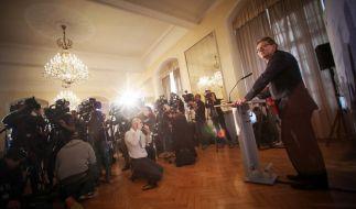 BKA-Chef Holger Münch äußerte sich neben Thomas de Maizière zur Terrorbedrohung in Deutschland. (Foto)