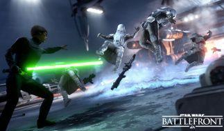 """""""Nutze die Macht"""": Charaktere wie Luke Skywalker oder Han Solo verfügen über spezielle Fähigkeiten und können in """"Battlefront"""" für kurze Zeit aktiviert und gesteuert werden. (Foto)"""