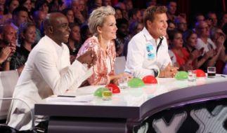 Die Jurymitglieder Bruce Darnell, Inka Bause und Dieter Bohlen (v.l.) bewerten in den Casting-Sendungen außergewöhnliche Talente aus aller Welt. (Foto)