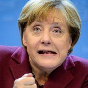 Gesichtsakrobatin Merkel: Wenn's in politischen Diskussionen zur Sache, ist ihre Mimik immer in Aktion.
