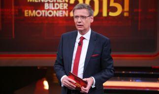 """Günther Jauch moderiert den RTL-Jahresrückblick """"2015! Menschen, Bilder, Emotionen"""". (Foto)"""