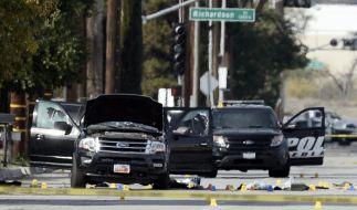 Die Attacke im kalifornischen San Bernardino mit 14 Toten hat möglicherweise einen Terrorhintergrund. (Foto)