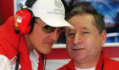 Jean Todt war bei Ferrari Direktor und hat Schumis große Erfolge dort miterlebt. Seitdem sind die beiden gute Freunde.