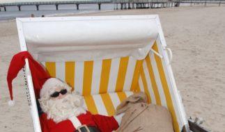 Keine Abkühlung für den Weihnachtsmann. Dieser Dezember ist der wärmste aller Zeiten. (Foto)