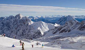 Skifahren auf der Zugspitze. (Foto)