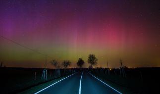 Polarlichter über Deutschland. (Foto)