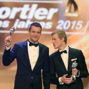 Severin Freund (links) wurde hinter Jan Frodeno (rechts) Zweiter bei der Wahl zum