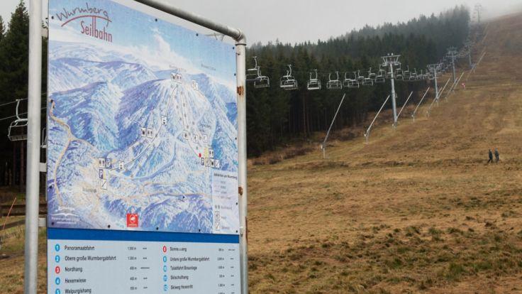 Wurmberg bei Braunlage im Oberharz: Kein Schnee im deutschen Mittelgebirge zu Weihnachten. (Foto)