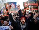 Iranische Demonstranten gehen nach der Hinrichtung des schiitischen GeistlichenNimr al-Nimr gegen Saudi-Arabien auf die Straße. (Foto)