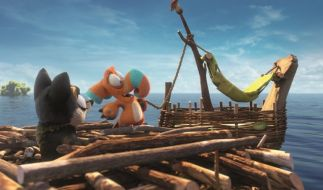 Nestrier Finny und das Grymp-Mädchen Leah versäumen die große Arche. (Foto)