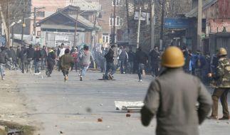 Proteste in Kashmir: Nicht nur in Saudi-Arabien und dem Iran, auch in Indien kam es nach der Hinrichtung von Nimr al-Nimr zu Protesten. (Foto)