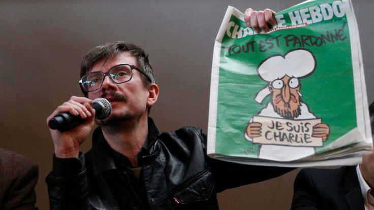 """Ein Jahr nach den Anschlägen islamistischer Terroristen auf die französische Satirezeitschrift """"Charlie Hebdo"""", bei der nahezu die gesamte Redaktion ums Leben kam, zieht die Zeitung """"Libération"""" Resümee. (Foto)"""