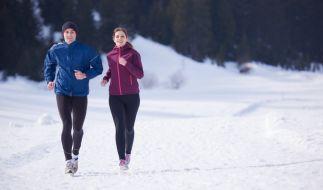 Mit der richtigen Kleidung können Sie auch bei Minus-Temperaturen noch laufen. (Foto)