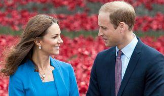 Verliebt wie am ersten Tag: Herzogin Kate und Prinz William. (Foto)