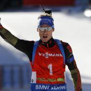 Österreicher Eder gewinnt - Kein Top-Ten-Platz für Biathleten (Foto)