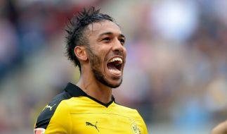 Die Fans wird's freuen: Pierre-Emerick Aubameyang bekennt sich zum BVB. (Foto)