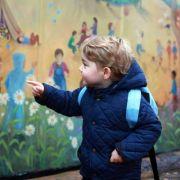 Prinz George bei seinem Besuch im Montessori-Kindergarten bei Sandringham.