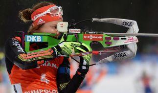 Laura Dahlmeier ist derzeit der Überflieger bei den deutschen Biathletinnen. (Foto)