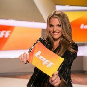 """Die """"taff""""-Moderatorin schummelte sich zu Heidi Klum (Foto)"""