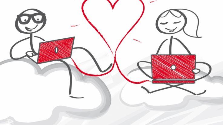 Online-Partnerbörsen boomen - immer mehr suchen online nach der großen Liebe und einem Flirt. (Foto)