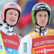 Absolut chancenlos! Freund verpasst beim Skifliegen Medaille (Foto)