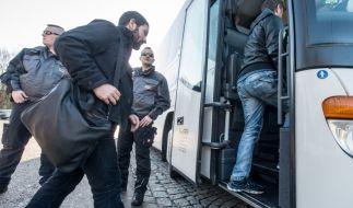 Flüchtlinge auf dem Weg nach Berlin am 14. Januar. (Foto)