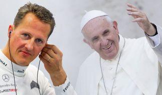 Papst Franziskus betet jetzt für Michael Schumacher. (Foto)