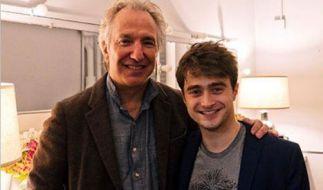 """Alan Rickman und Daniel Radcliffe spielten beide bei """"Harry Potter"""" mit - auch privat waren sie befreundet. (Foto)"""
