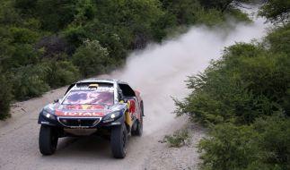 Stéphane Peterhansel bei der Rallye Dakar 2016. (Foto)
