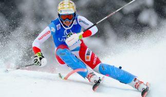 Bei den alpinen Ski-Damen ist Zähne fletschen angesagt. (Foto)