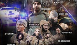 """Das Online-Propaganda-Magazin """"Dabik"""" veröffentlichte nun eine Foto-Montage, die alle neun Paris-Attentäter zeigt. (Foto)"""