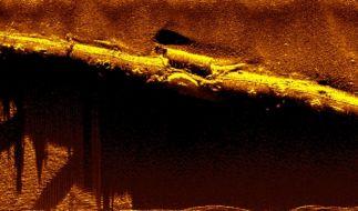 """Das deutsche U-Boot """"U-31"""" auf dem Meeresgrund vor der Ostküste Englands. (Foto)"""