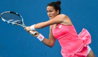 Die Spanierin Lara Arruabarrena geriet mit ihrem Partner David Marreo beim Mixed-Doppel unter Manipulationsverdacht. (Foto)