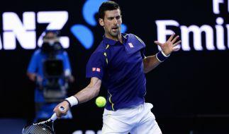 Der Serbe Novak Djokovic konnte sich im Viertelfinale gegen Kei Nishikori bei den Australian Open duchsetzen und trifft nun auf Roger Federer im Halbfinale. (Foto)