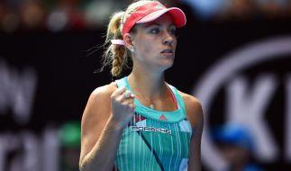 Angelique Kerber freut sich über ihren Sieg gegen Johanna Konta im Halbfinale der Australien Open. (Foto)