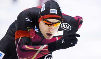 Beim Eisschnelllauf-Weltcup im norwegischen Stavanger will der Olympia-Vierte Nico Ihle seine letzte WM-Chance nutzen. (Foto)
