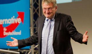 Wurde von Claudia Roth vor laufender Kamera in die Mangel genommen: Der AfD-Vorsitzende Jörg Meuthen. (Foto)