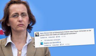 AfD-Politikerin Beatrix von Storch will an der Grenze auf Kinder schießen - und rudert zurück. (Foto)