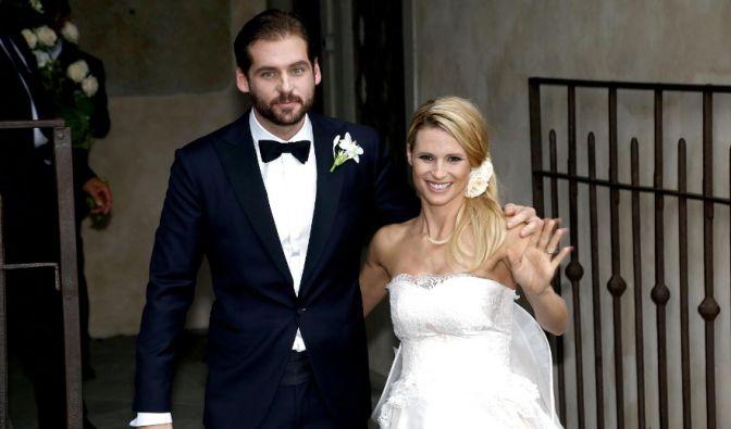 Die Krönung ihres Liebesglücks: Nachdem Michelle Hunziker am 9. Oktober 2013 die kleine Celeste zur Welt brachte, heiratete sie den Trussardi-Erben Tomaso Trussardi am 10. Oktober 2014. Da war sie bereits mit der zweiten gemeinsamen Tochter schwanger. (Foto)