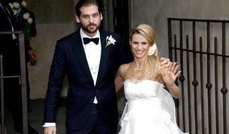 Tomaso Trussardi und Michelle Hunziker bei ihrer Hochzeit im Oktober 2014. (Foto)