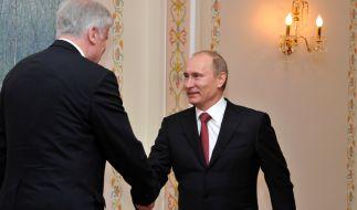 Wladimir Putin begrüßt Horst Seehofer 2011 in Russland. (Foto)