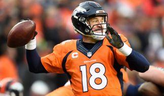 Der Super Bowl 50 wird wohl sein letztes Spiel werden: Football-Legende Payton Manning, Quarterback der Denver Broncos. (Foto)