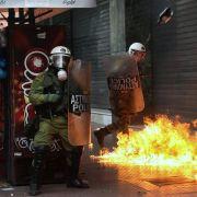 Schwere Ausschreitungen bei Demonstrationen in Athen! (Foto)