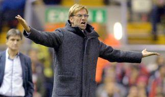Wegen des Verdachts einer Blinddarmentzündung findet das Spiel FC Liverpool gegen AFC Sunderland ohne Jürgen Klopp statt! (Foto)
