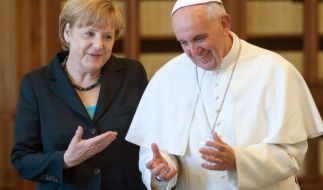 Angela Merkel und Papst Franziskus bei einem Treffen im Jahr 2013. (Foto)