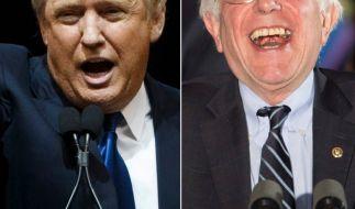 Bei den 2. US-Vorwahlen im Bundesstaat New Hampshire konnten der Republikaner Trump und der Demokrat Sanders ganz klar einen Sieg verzeichnen. (Foto)